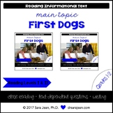 First Dogs • Reading Comprehension Passages and Questions • RL I & II