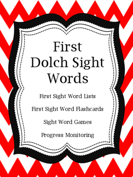 First Dolch Sight Word Flashcards and Games