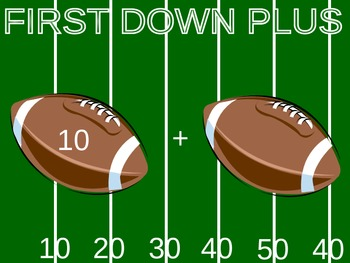 First Down Plus- The 10+ Math Game