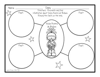 First Explorers Research Activities and Graphic Organizers