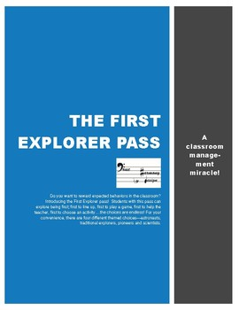 First Explorers Pass
