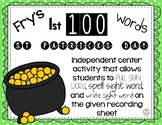 Fry's 1st 100 Sight Word Building Activity St Patricks Day