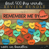 First Five Hundred Fry Sight Words - Heart Word Wall Bundle