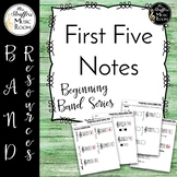First Five Notes {Beginning Band Series}