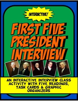 First Five President Talk Show Interview Class Activity with Readings