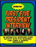First Five President Talk Show Interview Class Activity wi