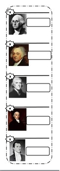 First Five Presidents for Lap books or Interactive Notebooks