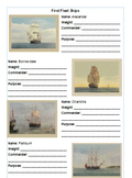 First Fleet Boat Research Worksheet