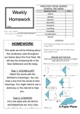 First Fleet Homework Sheet