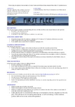 First Fleet Lesson Plans and Assessment Bundle