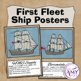 First Fleet Ship Posters