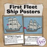 First Fleet Ship Posters