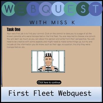 First Fleet Web Quest