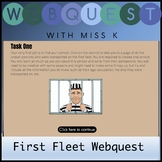 Distance Learning First Fleet Web Quest