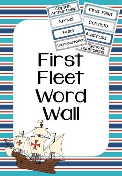First Fleet Word Wall