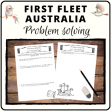First Fleet arrival to Australia - Mathematics problem solving tasks