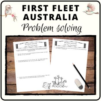 First Fleet arrival to Australia - Mathematics problem solving tasks