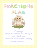 First Fractions - whole, halves and quarters fractions flag