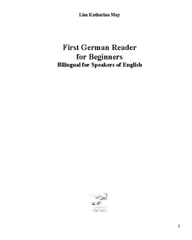 First German Reader for Beginners Bilingual for Speakers of English