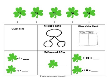 First Gr. Module 4: Place Value Practice:  Add Subtract One, Ten: Lesson Plan