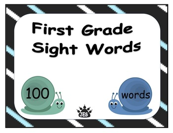 First Grade 100 Sight Word Flashcards