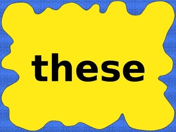 First Grade 150 High Frequency Word Power Point