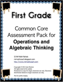 First Grade (1st Grade) Common Core CCSS Practice or Assessment Pack 1.OA