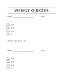 First Grade 1st Semester Sight Word Quizzes