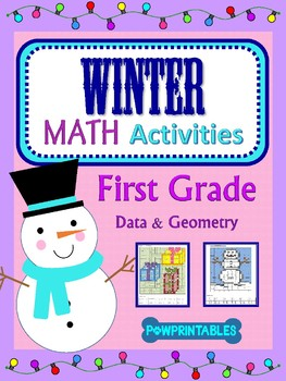 1st Grade - 2 Winter/Christmas Math Coloring Activities! -