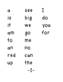 First Grade 220 Dolch Sight Word Testing Folder