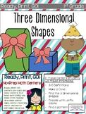 First Grade 3-D shapes Ready, Print, GO! Math Centers