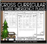 First Grade 3 Week No Prep Emergency Plans for At Home or