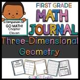 First Grade 3D Shapes Math Journal (Go Math Chapter 11)