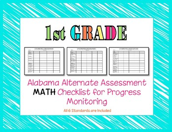 First Grade AAA Math Checklist Progress Monitoring