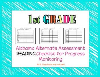 First Grade AAA Reading Checklist Progress Monitoring