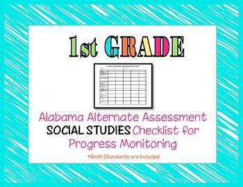 First Grade AAA Social Studies Checklist Progress Monitoring