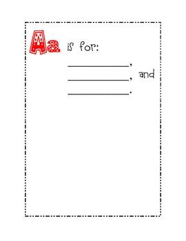 First Grade ABC Class Book