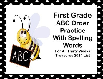 First Grade ABC Order Practice With Spelling Words