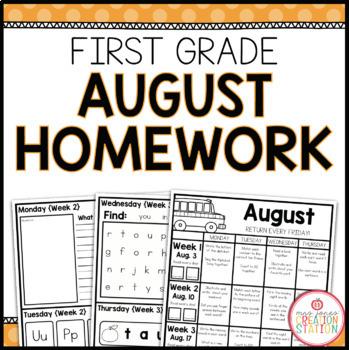 Homework Packet: First Grade | August