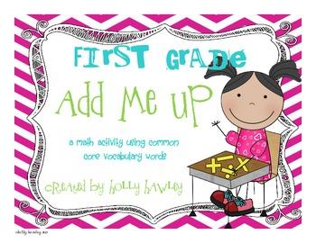 First Grade Add it Up- CCS Math Vocabulary Activity