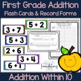 First Grade Addition Flash Cards-Math Fact Fluency Within 10-Common Core Aligned