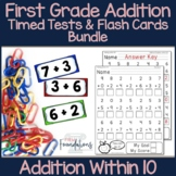 First Grade Addition Flash Cards & Timed Tests Bundle