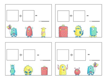 First Grade Addition Game- Monster Math (Doodle Dice)