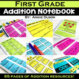1st Grade Math Notebook:  Addition