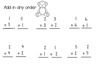 First Grade Addition Practice