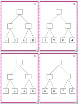 First Grade Addition Puzzles Sums to 20