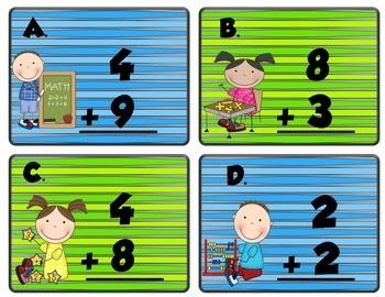 Addition QR Code Scoot - First Grade