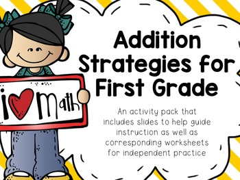first grade addition strategies common core aligned tpt. Black Bedroom Furniture Sets. Home Design Ideas
