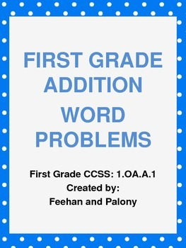First Grade Addition Word Problems