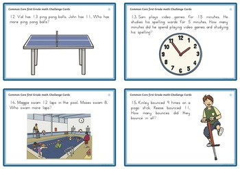 First Grade Addition and Subtraction Task Cards